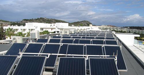 Ηλιακά συστήματα για ξενοδοχεία και ενοικιαζόμενα δωμάτια.